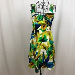 Evan-Picone  sleeveless floral print dress 4P